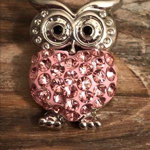 Interchangeable Pink Owl Snap 18mm